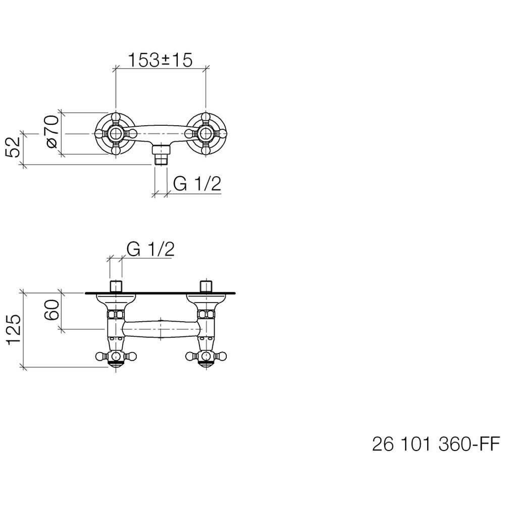 dornbracht madison brausebatterie f r wandmont 26101360. Black Bedroom Furniture Sets. Home Design Ideas