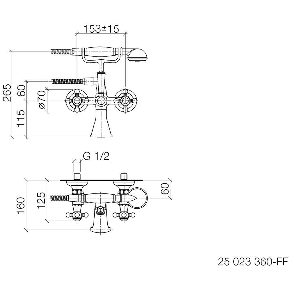 dornbracht madison wannenbatterie f r wandmont 25023360. Black Bedroom Furniture Sets. Home Design Ideas
