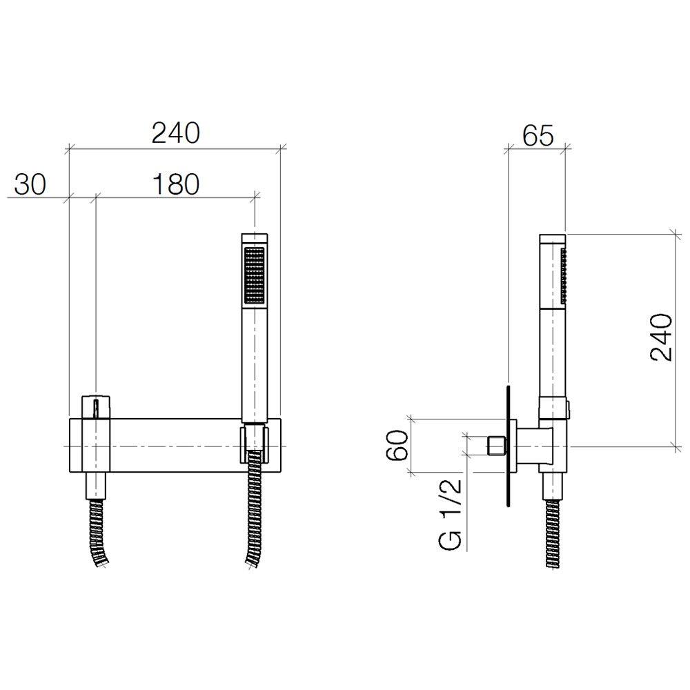 dornbracht symetrics schlauchbrausegarnitur 27819980 00. Black Bedroom Furniture Sets. Home Design Ideas
