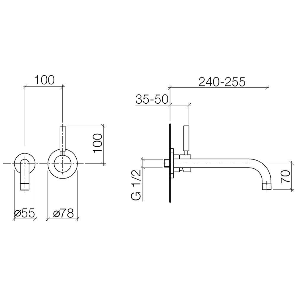 dornbracht tara logic waschtischbatterie mit einzelros 36816885 00 megabad. Black Bedroom Furniture Sets. Home Design Ideas