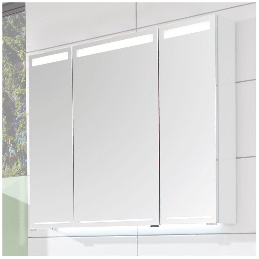 Puris Elevado Spiegelschrank 90 x 15 x 80 cm mit Beleuchtung in