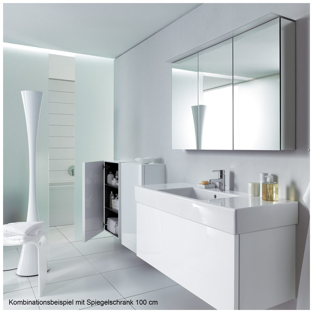 duravit delos spiegelschrank 100 cm mit led modul dl764300000 megabad. Black Bedroom Furniture Sets. Home Design Ideas