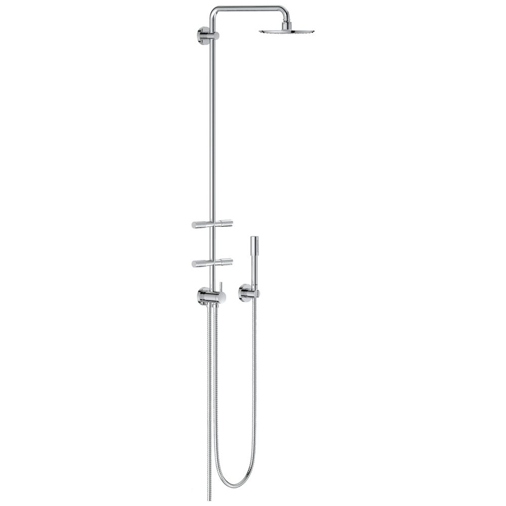 grohe rainshower duschsystem 27361000 mit umstellung megabad. Black Bedroom Furniture Sets. Home Design Ideas