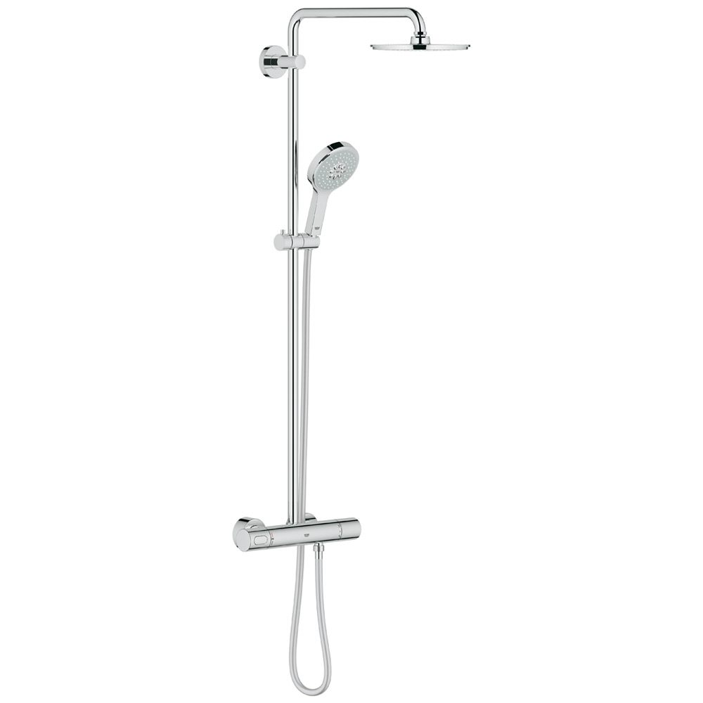 grohe rainshower duschsystem 210 power soul mit thermostat megabad. Black Bedroom Furniture Sets. Home Design Ideas