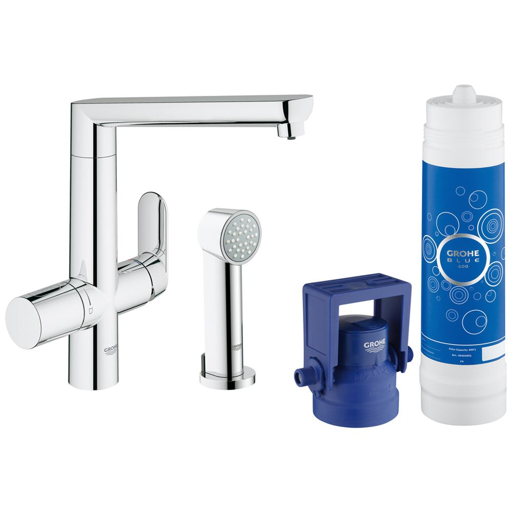 grohe blue k7 starterkit mit speedclean seitenbrause 31355001 megabad. Black Bedroom Furniture Sets. Home Design Ideas