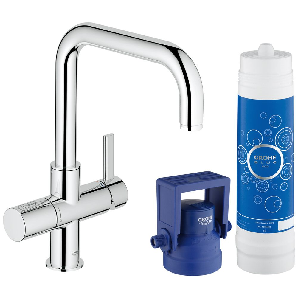 grohe blue pure starter kit einhand sp ltischbatterie 31299001 megabad. Black Bedroom Furniture Sets. Home Design Ideas
