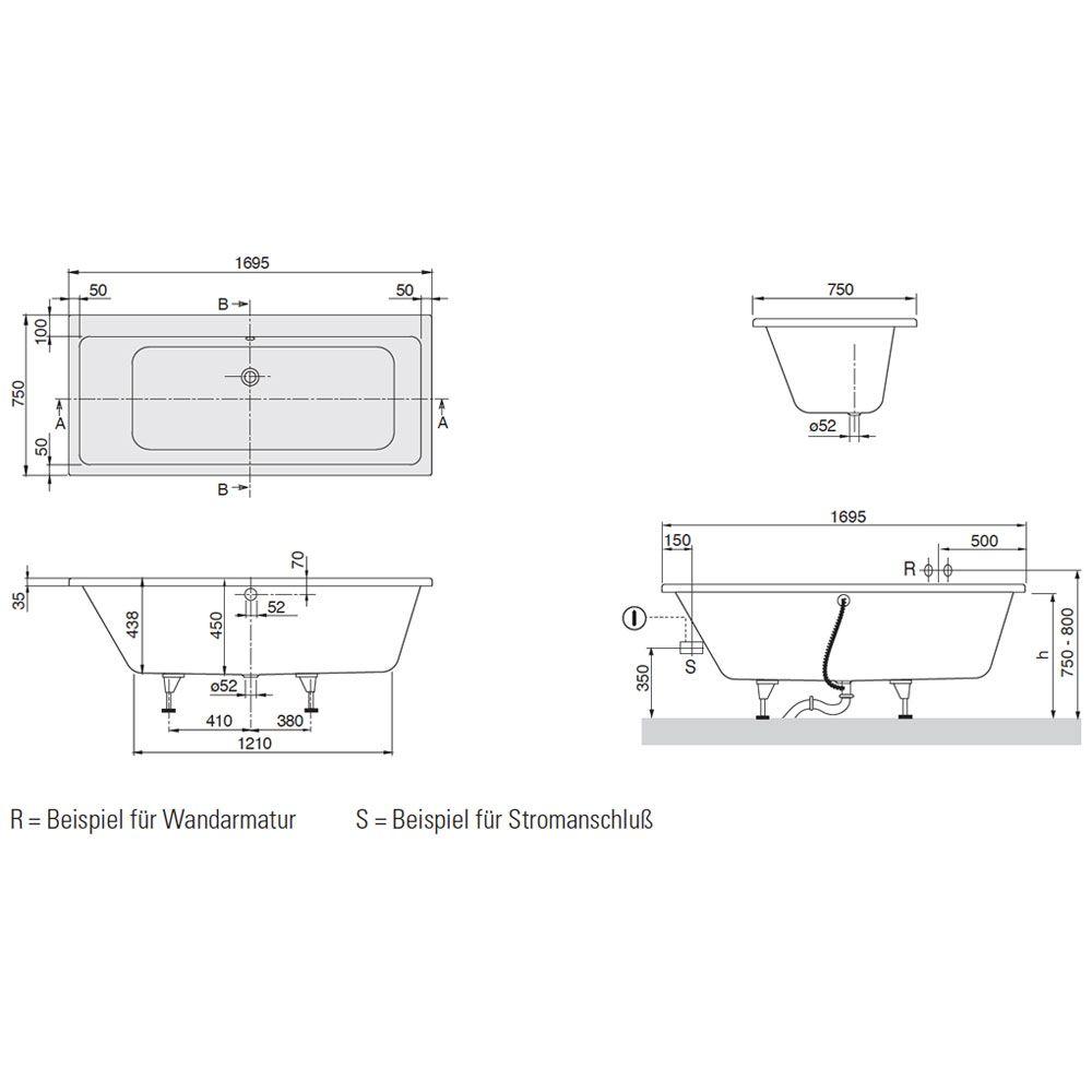 villeroy und boch badewanne subway ak05 hitoiro. Black Bedroom Furniture Sets. Home Design Ideas