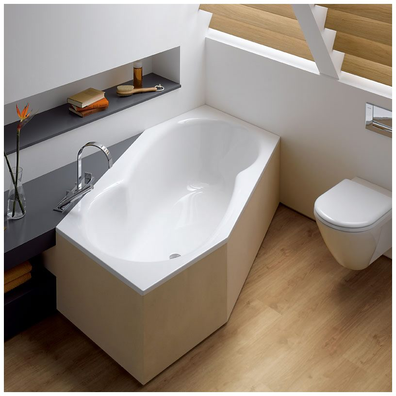 Bette Metric Sechseckbadewanne 206 x 90 x 45 cm - 6841-000 - MEGABAD | {Sechseck badewanne einbauen 19}