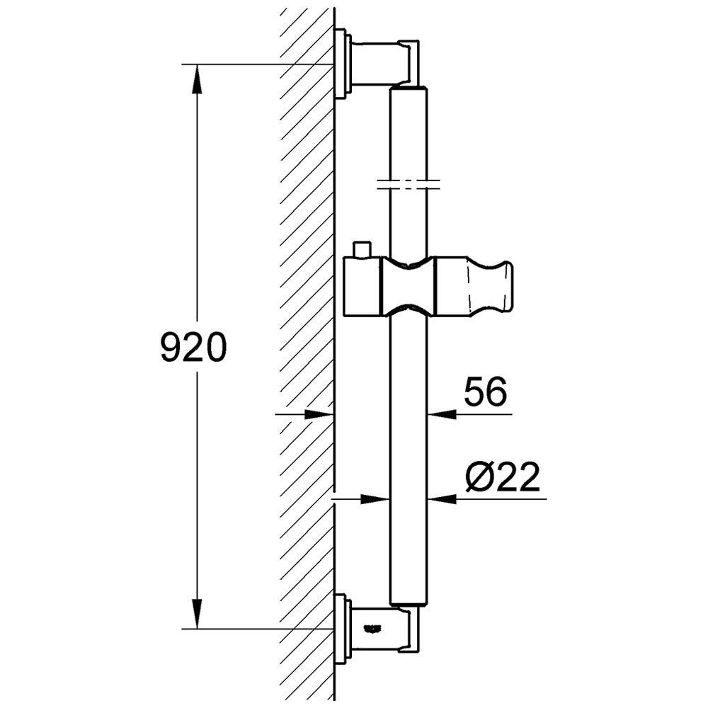 grohe sena brausestange 90 cm 28346000 megabad. Black Bedroom Furniture Sets. Home Design Ideas