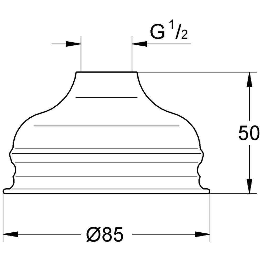 Super Grohe Relexa Kopfbrause, DN 15, Art. 28404000 - MEGABAD EI32