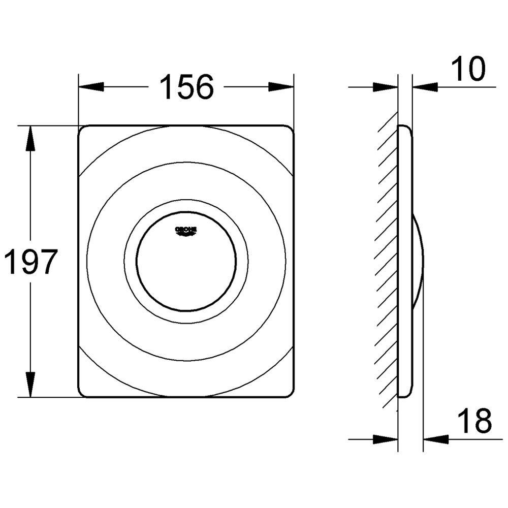grohe surf wc abdeckplatte art 37063000 megabad. Black Bedroom Furniture Sets. Home Design Ideas