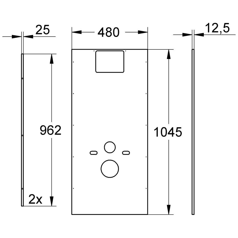 grohe rapid sl verkleidung f r wand wc 100 cm bauh he. Black Bedroom Furniture Sets. Home Design Ideas