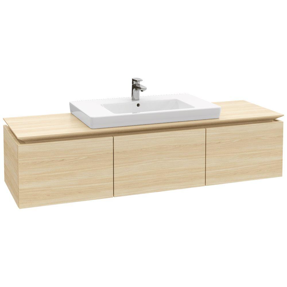 villeroy boch legato waschtischunterschrank 160 cm mit 3 ausz gen b21800pn megabad. Black Bedroom Furniture Sets. Home Design Ideas