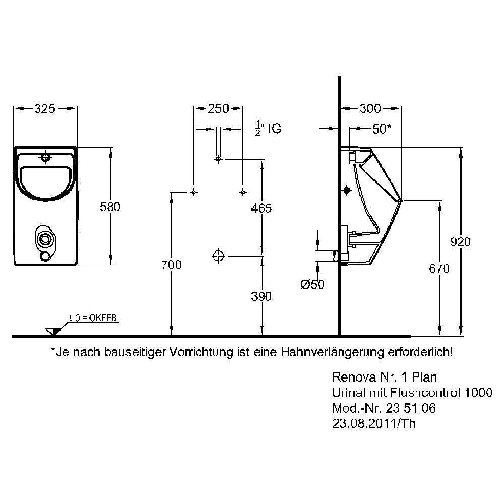 Keramag Renova Nr 1 Plan Urinal At Pd16 Startupjobsfa