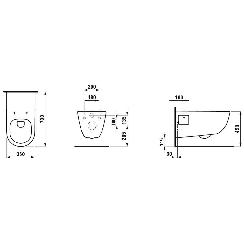 laufen pro liberty sp lrandloses wand wc h8219600000001 megabad. Black Bedroom Furniture Sets. Home Design Ideas