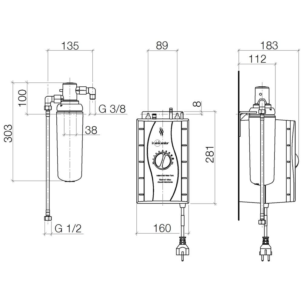 Dornbracht Water Dispenser Heißwassertank inkl. Filter 1289297090 ...