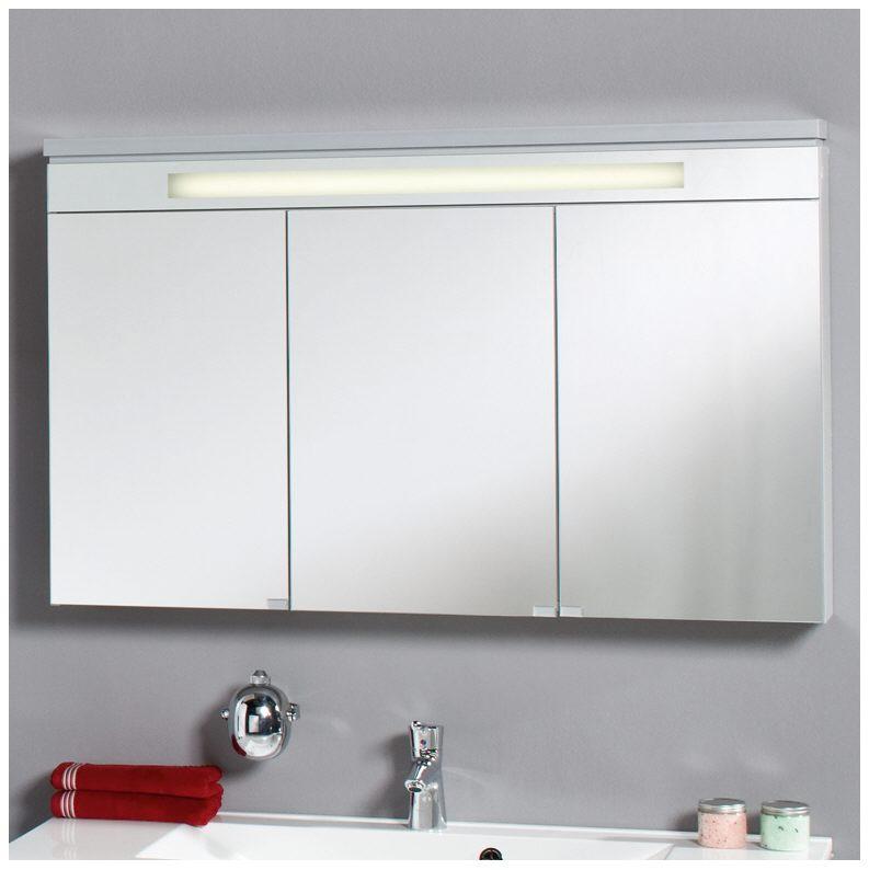Puris Cool Line Spiegelschrank 120 x 76 cm mit Beleuchtungselement