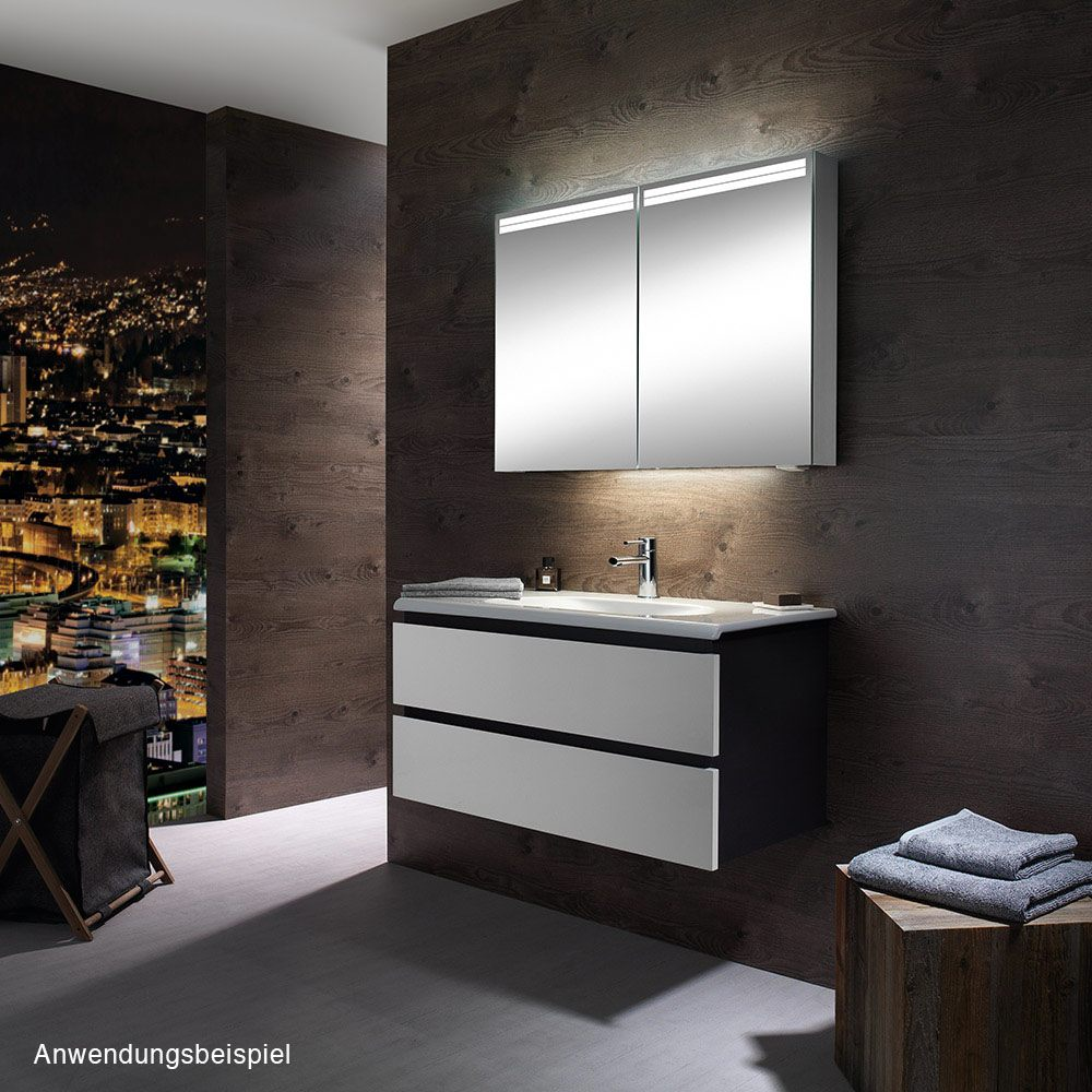 schneider arangaline spiegelschrank 120 2 led. Black Bedroom Furniture Sets. Home Design Ideas
