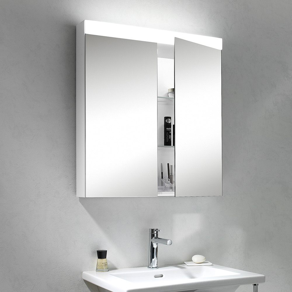 Schneider PATALINE Spiegelschrank/60/2/LED 161.061.02.02 - MEGABAD
