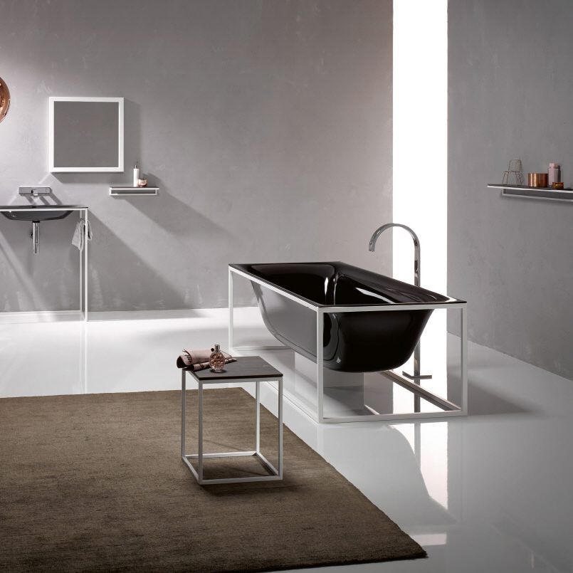 bette lux shape freistehende badewanne 180 x 80 cm mit bettesensory in chrom 3452 000 b631 901. Black Bedroom Furniture Sets. Home Design Ideas