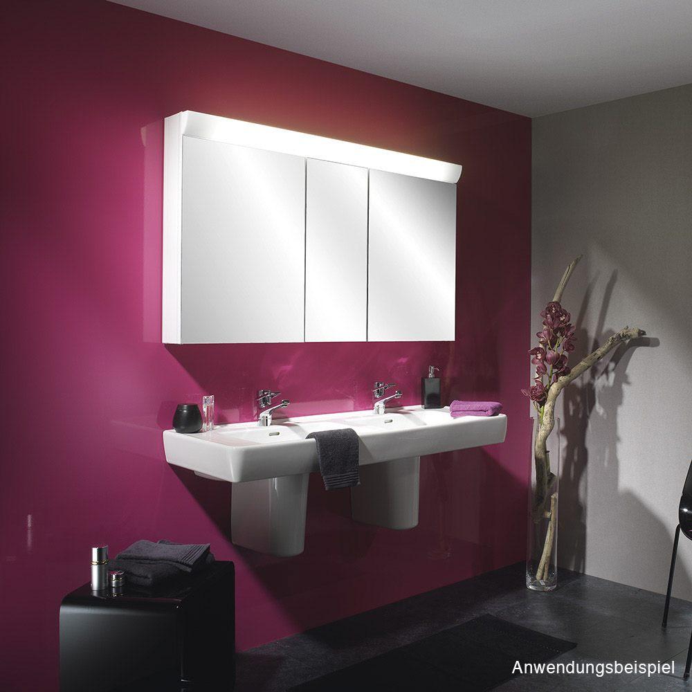 Schneider wangaline spiegelschrank 130 3 fl for Spiegelschrank 130 cm