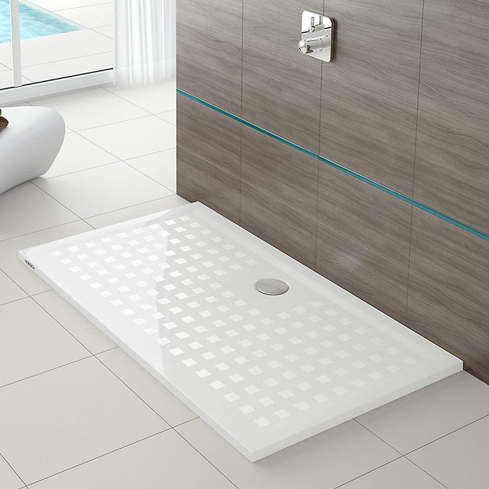 Hoesch muna viereck duschwanne 80 x 80 cm mit antirutsch for Wohnzimmertisch 90 x 120