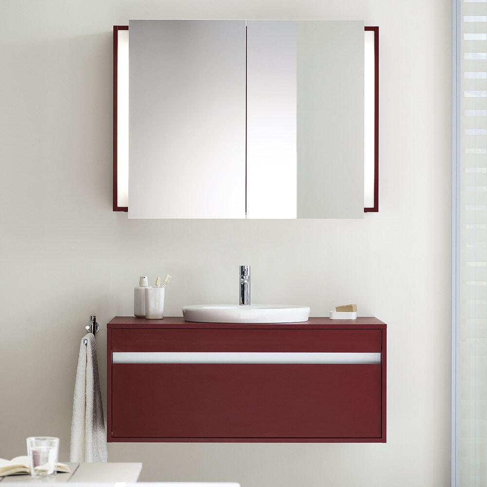 duravit ketho spiegelschrank art kt75320 100 cm breit megabad. Black Bedroom Furniture Sets. Home Design Ideas