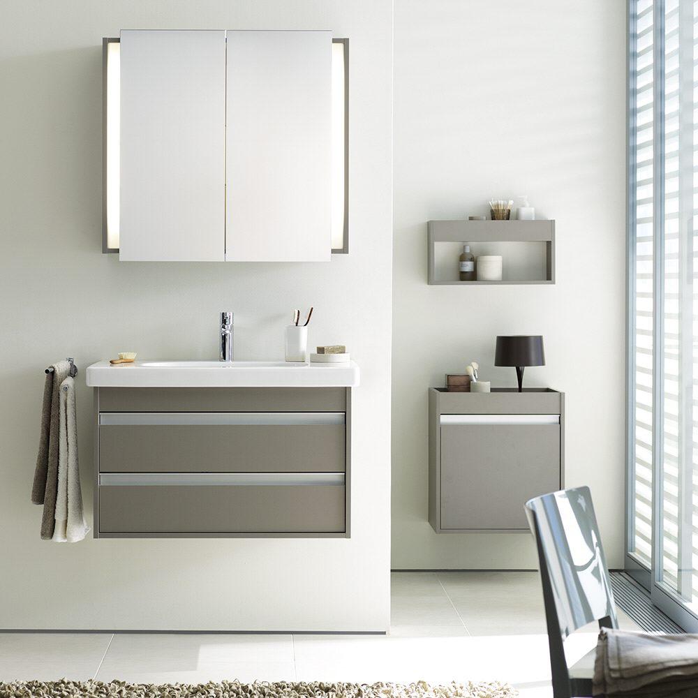 duravit ketho spiegelschrank 80 cm art kt753101818 megabad. Black Bedroom Furniture Sets. Home Design Ideas