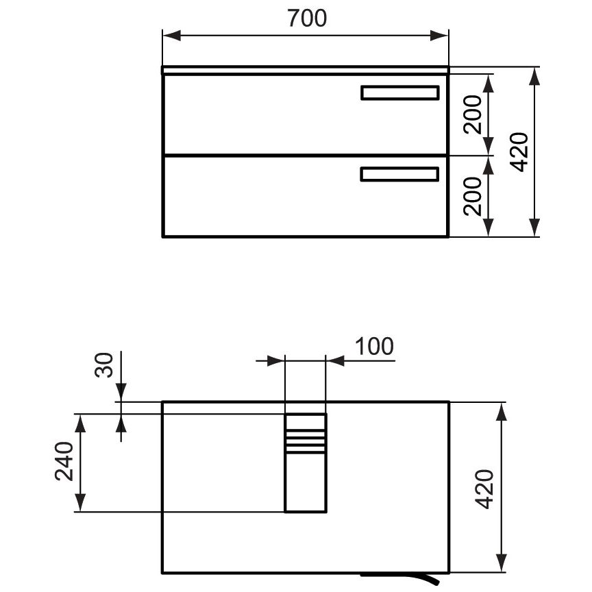 ideal standard strada waschtischunterschrank k2455wh megabad. Black Bedroom Furniture Sets. Home Design Ideas