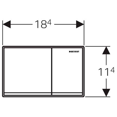 geberit bet tigungsplatte omega 60 megabad. Black Bedroom Furniture Sets. Home Design Ideas