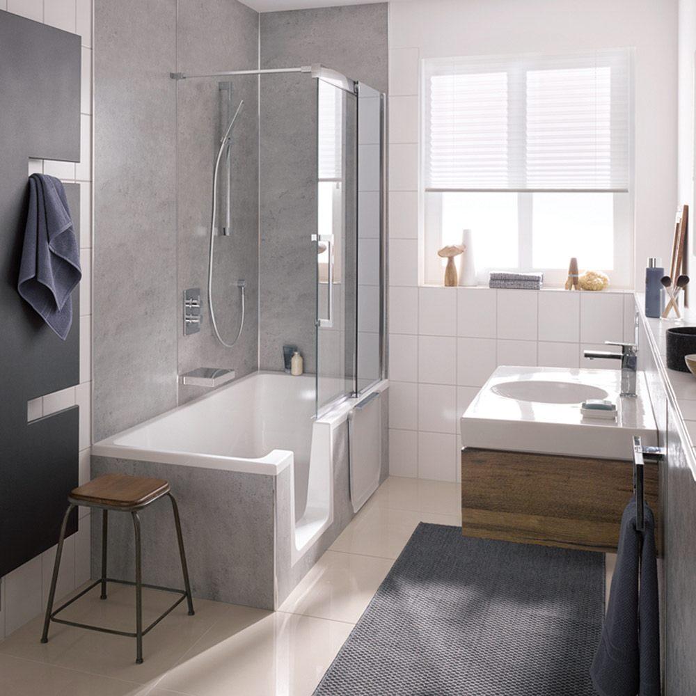 hsk dusch badewanne dobla 160 cm einstieg links 540160 megabad. Black Bedroom Furniture Sets. Home Design Ideas