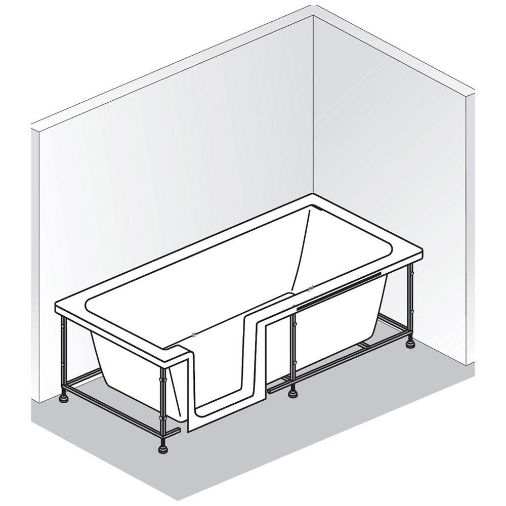 hsk dusch badewanne dobla 170 cm einstieg links 540170 megabad. Black Bedroom Furniture Sets. Home Design Ideas