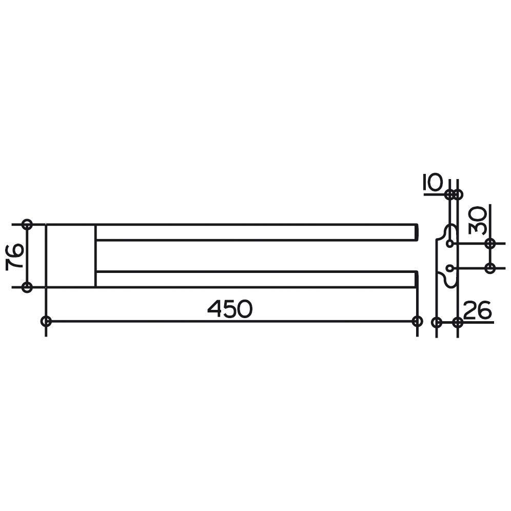 keuco edition 400 handtuchhalter 2 teilig 45 cm 11518010000 megabad. Black Bedroom Furniture Sets. Home Design Ideas