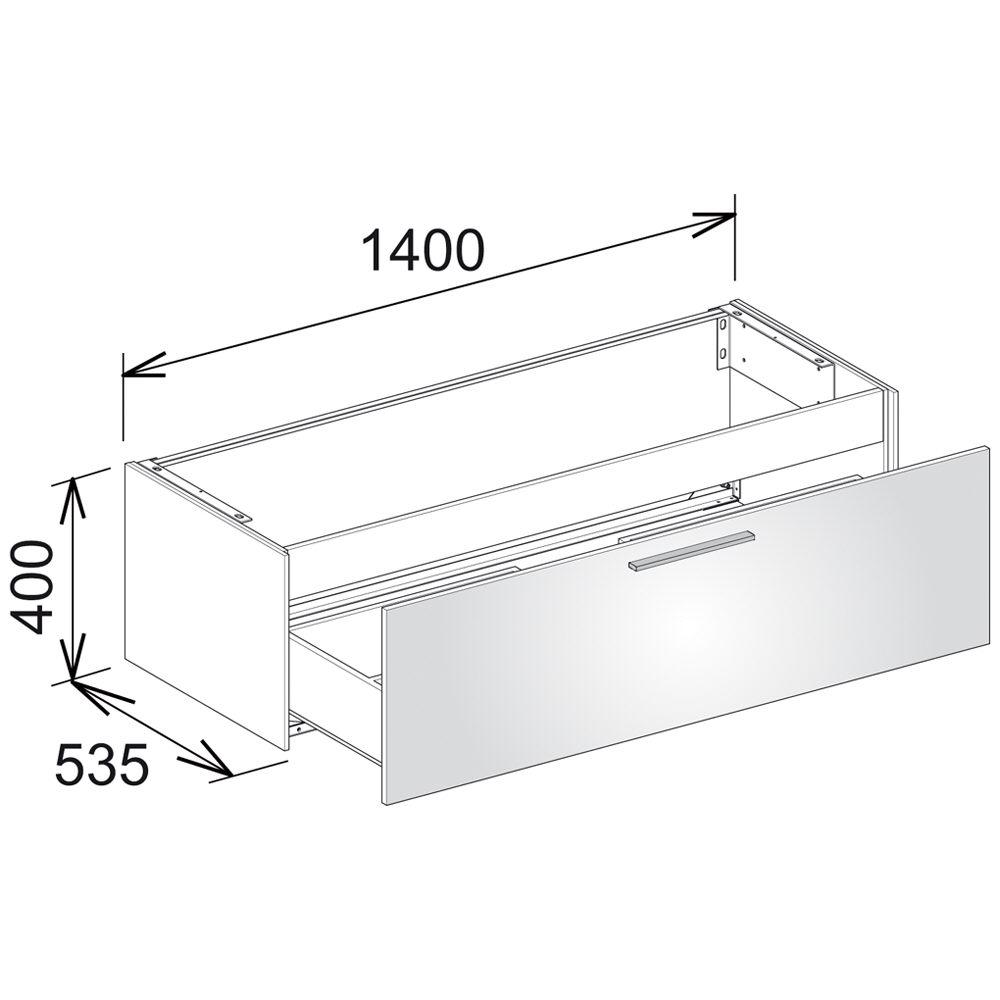 keuco royal 60 waschtischunterbau 140 cm 32161210000 megabad. Black Bedroom Furniture Sets. Home Design Ideas