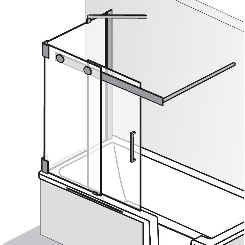 hsk k2p badewannenaufsatz gleitt r 2 teilig und seitenwand links 2186090 41 50 links megabad. Black Bedroom Furniture Sets. Home Design Ideas
