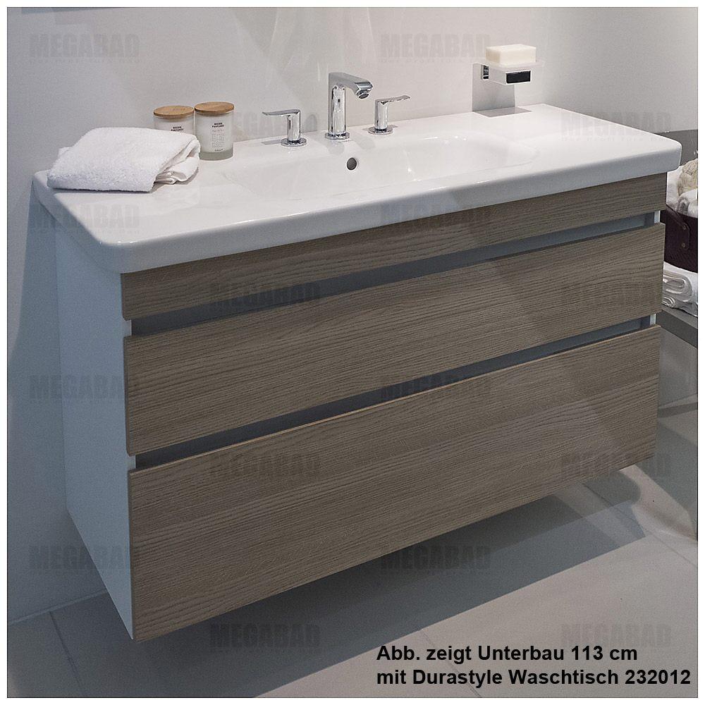 Duravit DuraStyle Waschtischunterbau 115 cm, mit 2 Schubkästen ...
