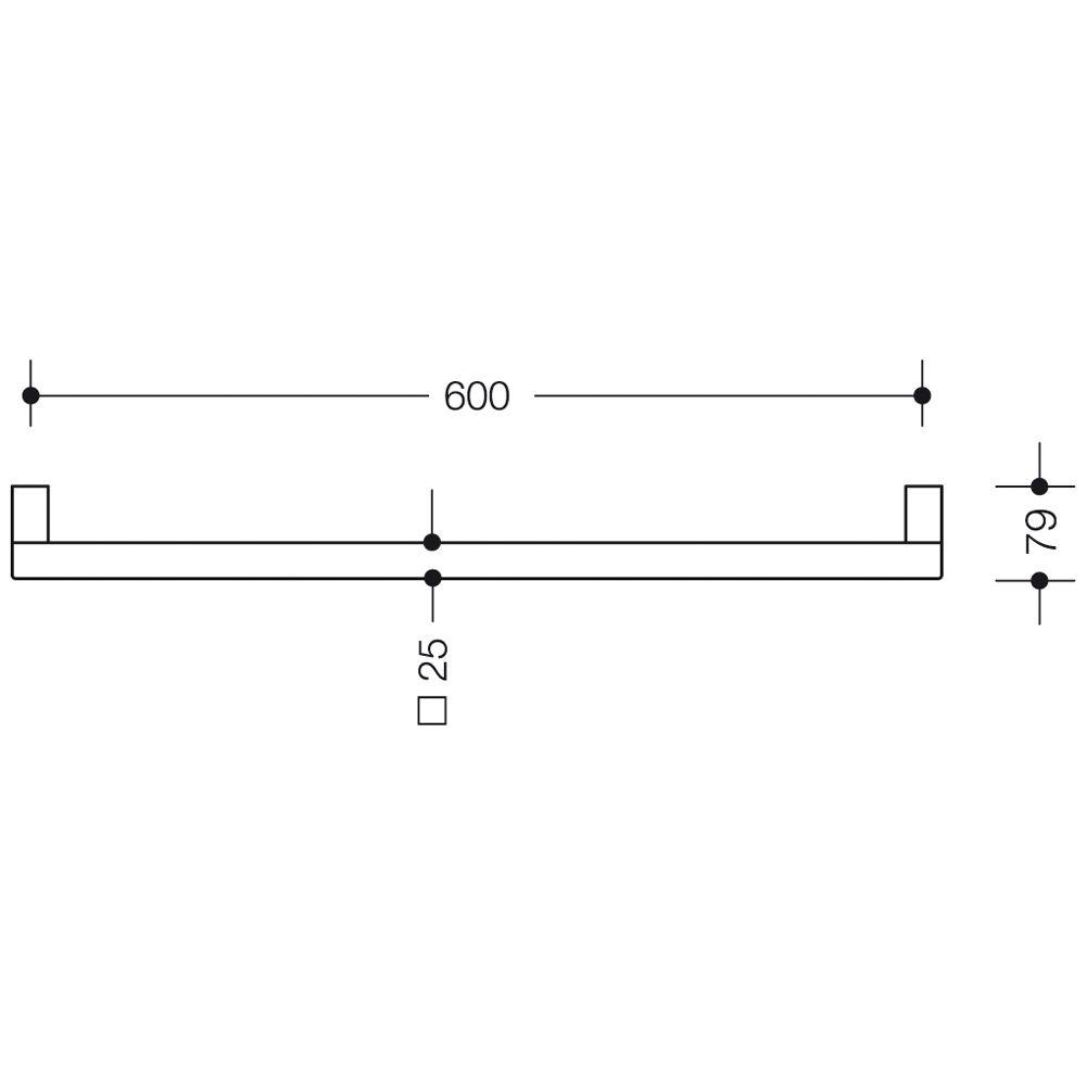 hewi system 100 haltegriff 60 cm megabad. Black Bedroom Furniture Sets. Home Design Ideas