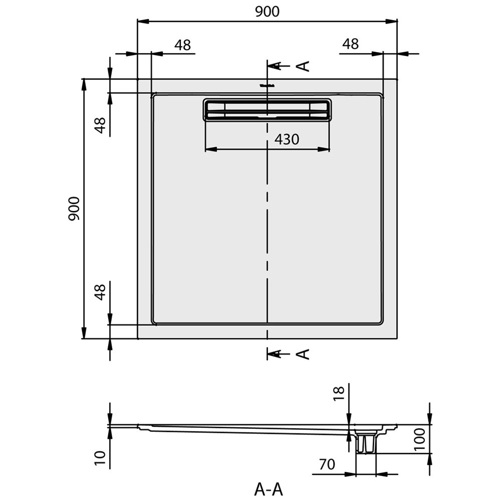 Faltt?r Dusche Erfahrung : Villeroy & Boch Squaro Super Flat Duschwanne UDQ0910SQR1V-01 – MEGABAD