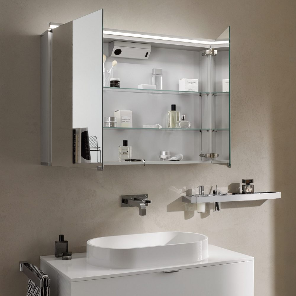 emco asis pure led lichtspiegelschrank 60 cm 979705081. Black Bedroom Furniture Sets. Home Design Ideas
