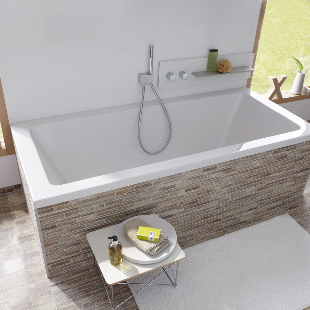 megabad architekt pure badewanne 170 x 75 cm mb31678 megabad. Black Bedroom Furniture Sets. Home Design Ideas