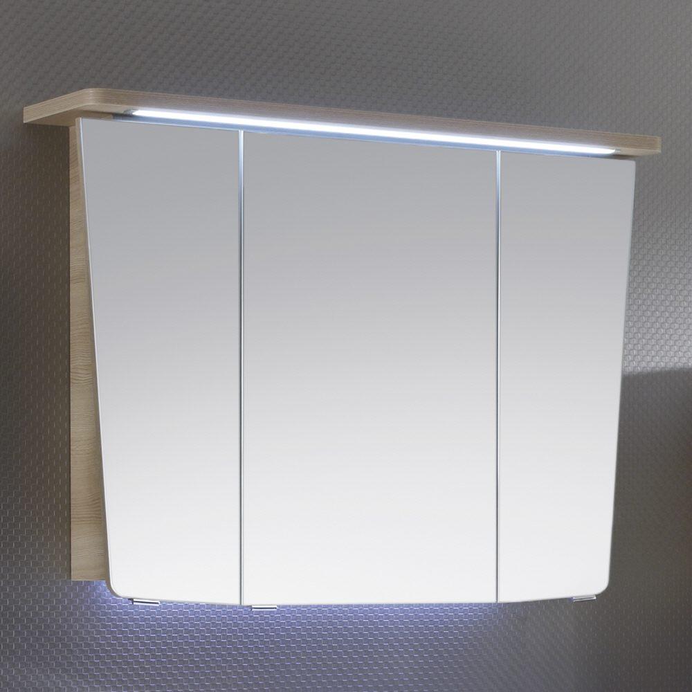 Pelipal Vialo Spiegelschrank 95 cm mit LED Beleuchtung im Kranz