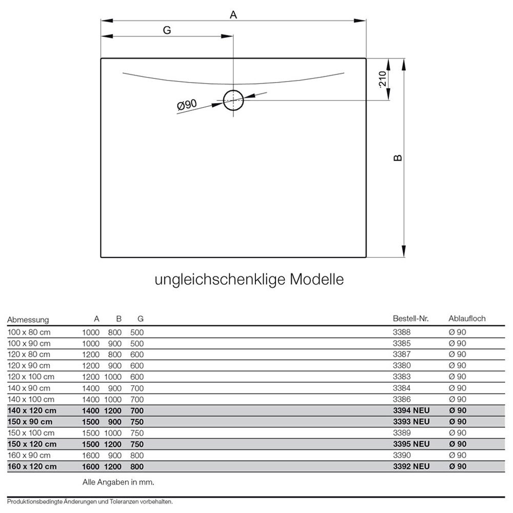 bette bettefloor side duschfl che 100 x 80 cm 3388 000. Black Bedroom Furniture Sets. Home Design Ideas