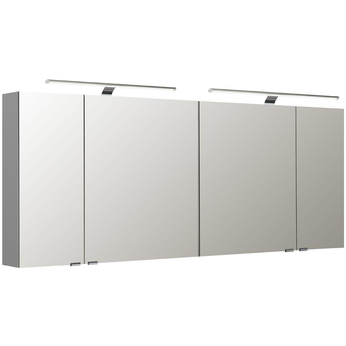 pelipal s5 spiegelschrank 180 x 16 x 70 cm mit 2 led. Black Bedroom Furniture Sets. Home Design Ideas
