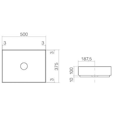 alape metaphor aufsatzbecken ab me500 rechteckig 50 x 37. Black Bedroom Furniture Sets. Home Design Ideas