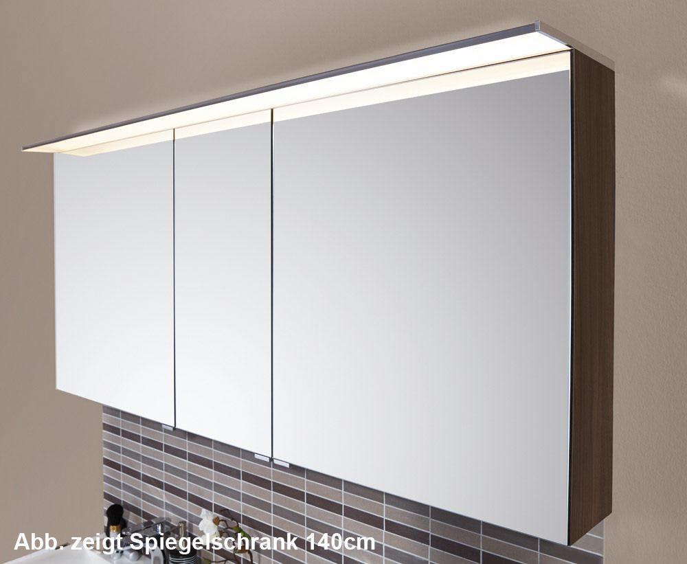 Puris Star Line Spiegelschrank 120 x 15 x 66 cm mit LED ...
