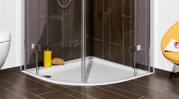 Faltt?r Dusche Erfahrung : Villeroy & Boch Viertelkreisduschwannen – MEGABAD