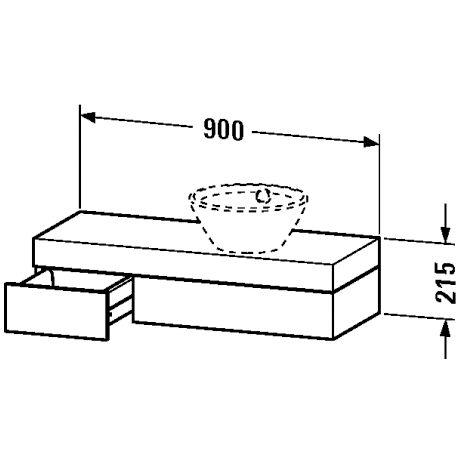 duravit fogo konsole mit schubkasten fo837101313 megabad. Black Bedroom Furniture Sets. Home Design Ideas