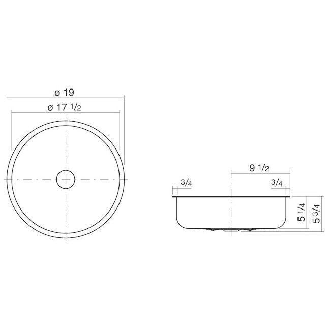 alape sondo einbaubecken eb so450 2u kreisf rmig mit 44 4 cm 3506000000 megabad. Black Bedroom Furniture Sets. Home Design Ideas
