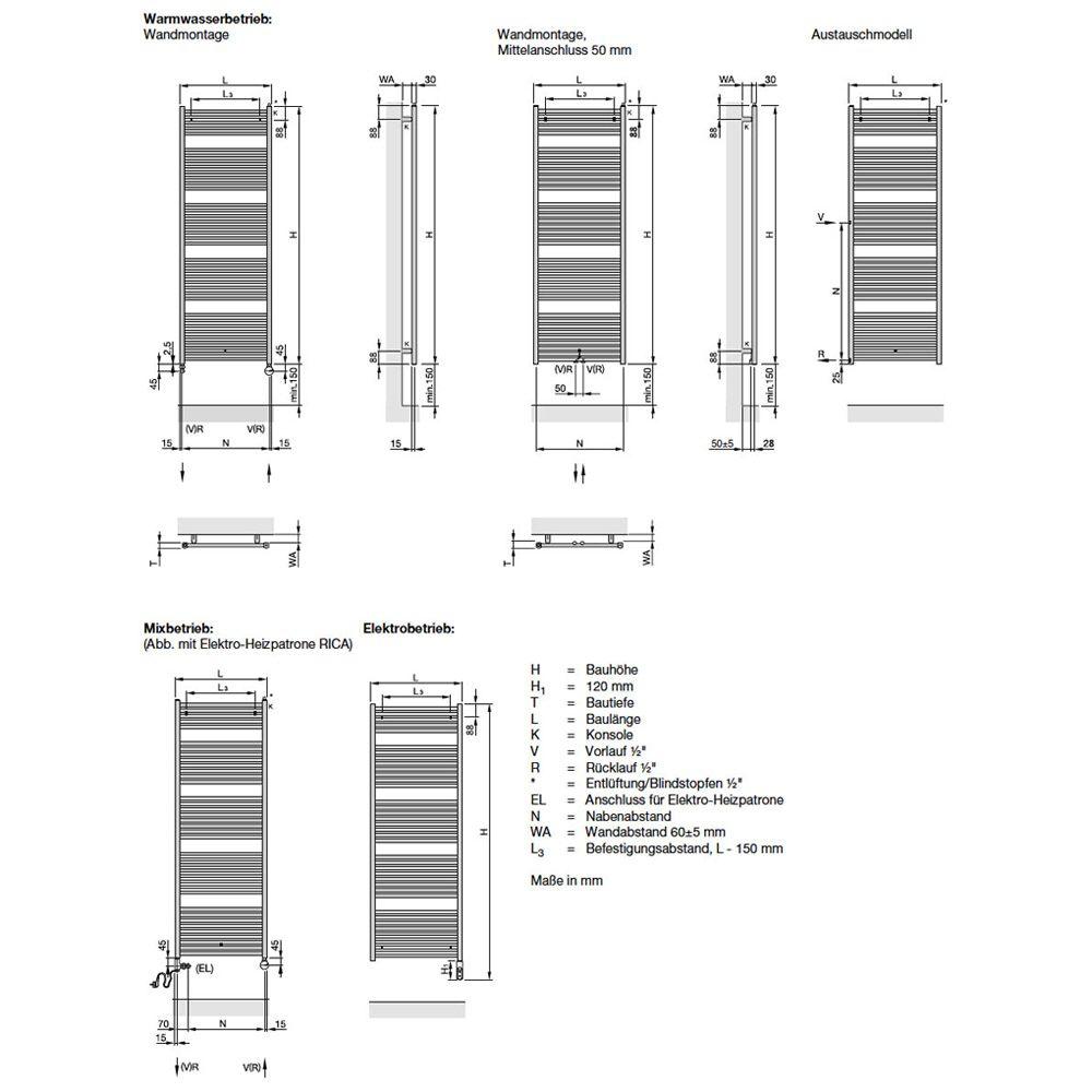 zehnder zeno zn 170 060 na90 badheizk rper 60 x 168 8 cm zz500360b1n9000 megabad. Black Bedroom Furniture Sets. Home Design Ideas