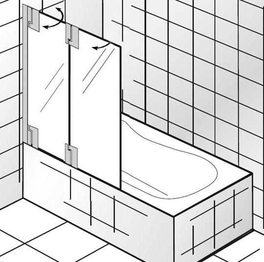hsk k2p badewannenaufsatz 2 teilig anschlag links 2106112. Black Bedroom Furniture Sets. Home Design Ideas